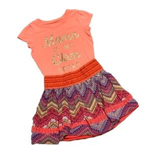 Pink two piece Tee and Skirt Size 2T